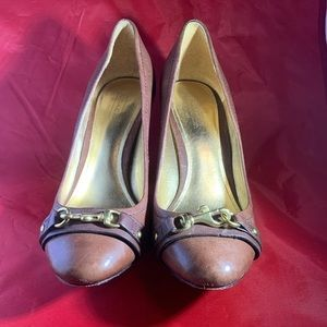 Coach Desaree Brown Leather Pumps Sz 7.5